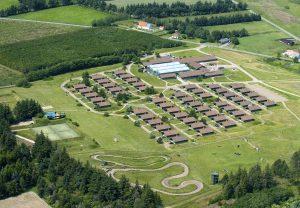 Lejrskole, fly billede af en by